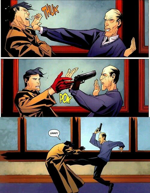 Alfred Pennyworth serving up some whoop ass - meme