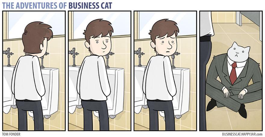 Les aventure de business cat - meme