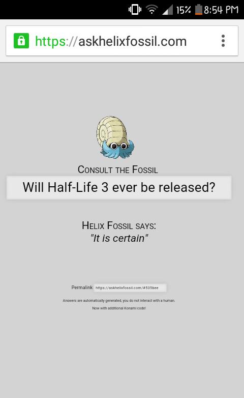 The Helix fossil has spoken!! - meme