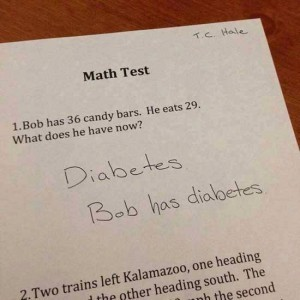 Bob has diabetes. - meme