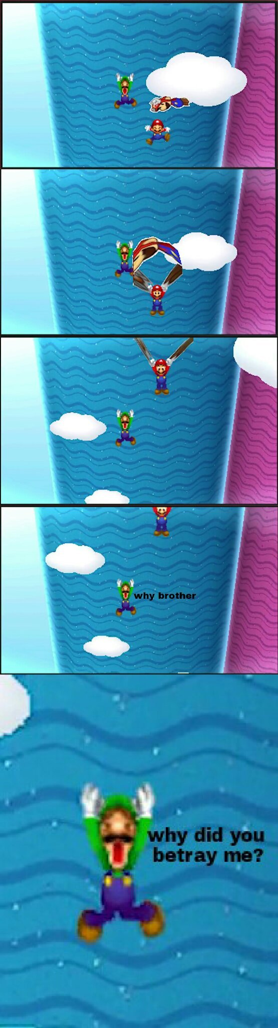 Help yourself, Green Mario - meme