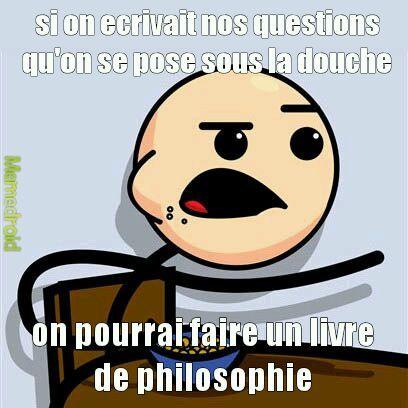 douche=philosophe - meme