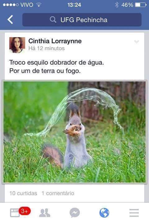 Esquilo avatar - meme
