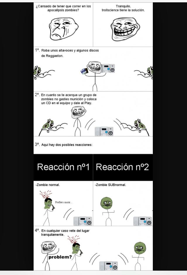 Zombies subnormales - meme