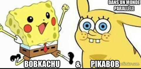 Alors ? Pikabob ou Bobkachu ? Deux choix s'offrent à toi. - meme