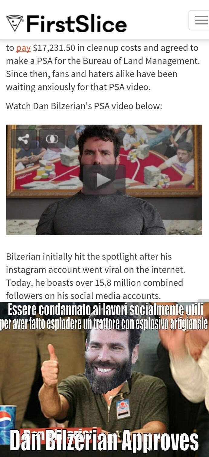 Il sito racconta cio che dice il meme. Per chi non conoscesse Dan Blitzerian è un miliardario che è perennemente a troie e il suo gatto ha un account instagram. e anche la sua capra. E han visto piu figa di tutto memedroid Italia messo insieme.