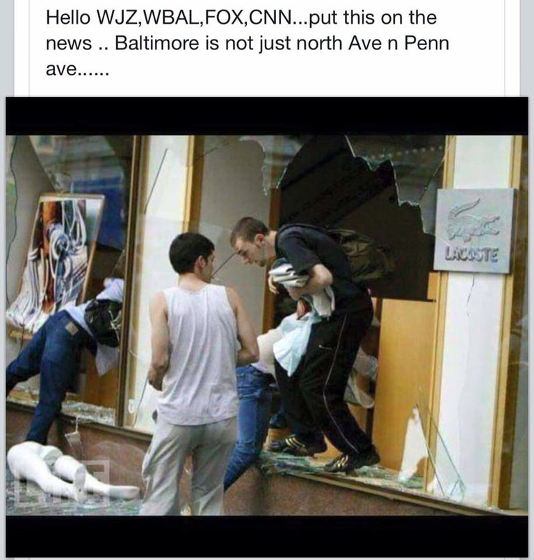 Whaaa Baltimore has white people?? - meme