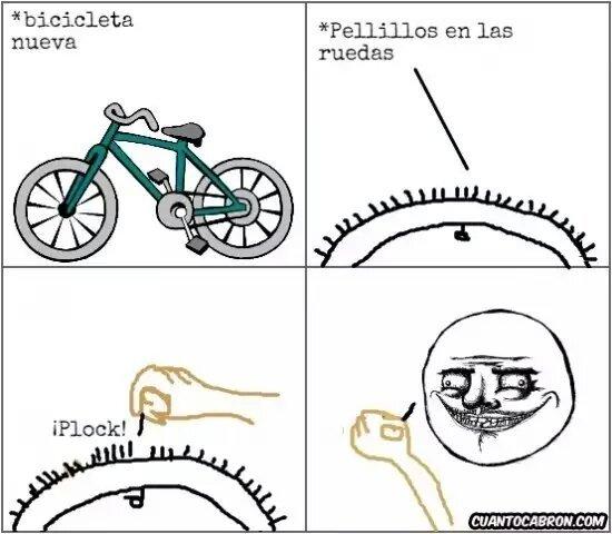 Quiero una bici - meme