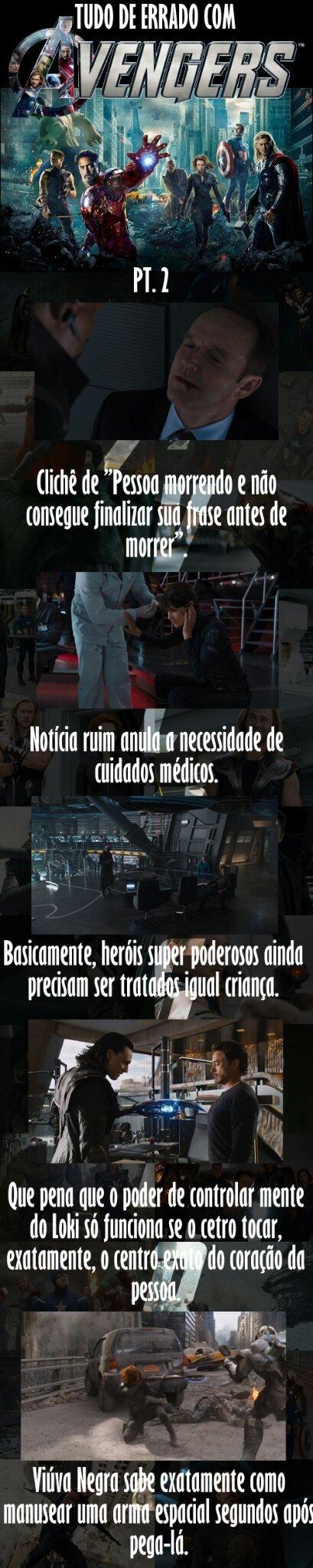 Tudo de errado com os The Avengers - meme