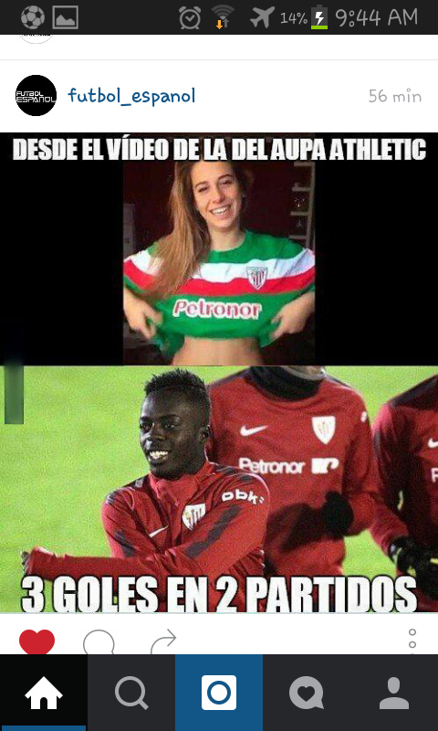Por ella me vuelvo al Athletic - meme