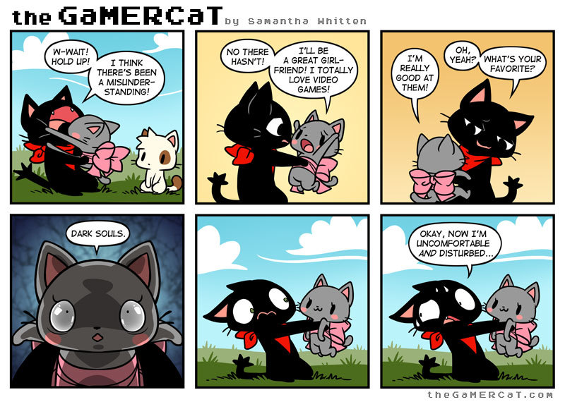 I normally don't like posting gamercat comics on memedroid, but this one is just too funny