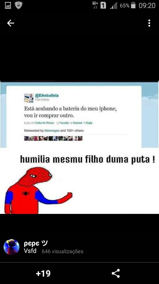 Humilha não poh ;-; - meme