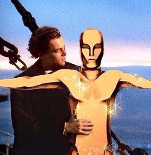 Leonardo DiCaprio ganador del oscar a mejor actor #MERECIDO - meme
