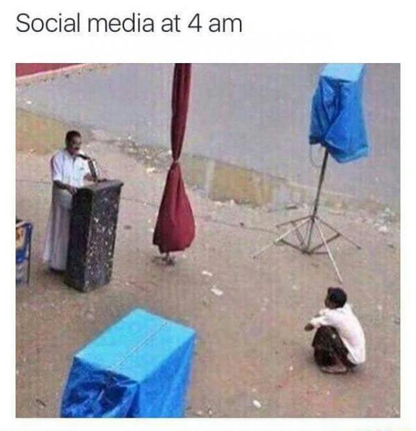 Late night Social Media - meme