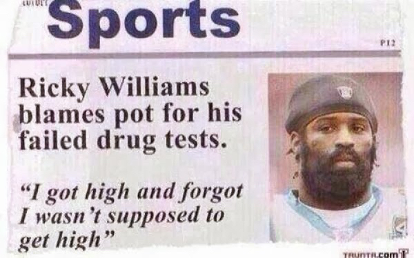Hey we all forget drugs are bad for a drug test - meme