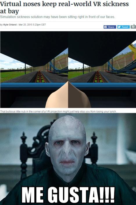 Voldemort gusta - meme