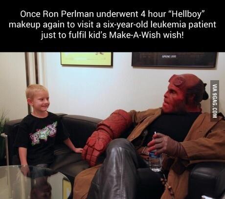 Good guy Ron Perlman - meme