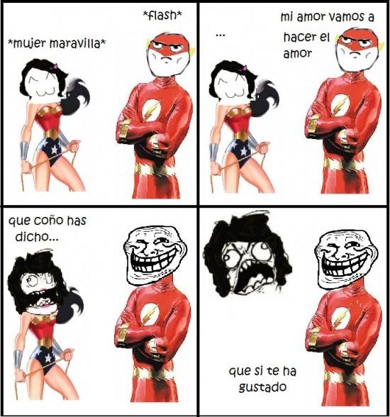 Troll Flash - meme