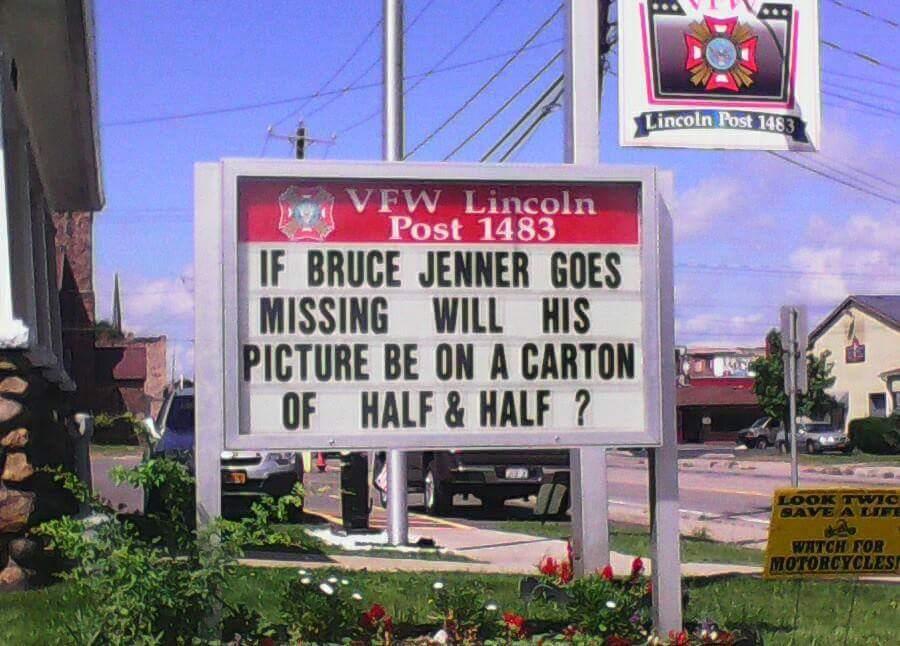 Bruce Jenner is not a hero. - meme