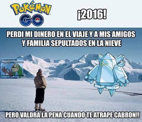Aqui en Chile habran puros Caterpies - meme