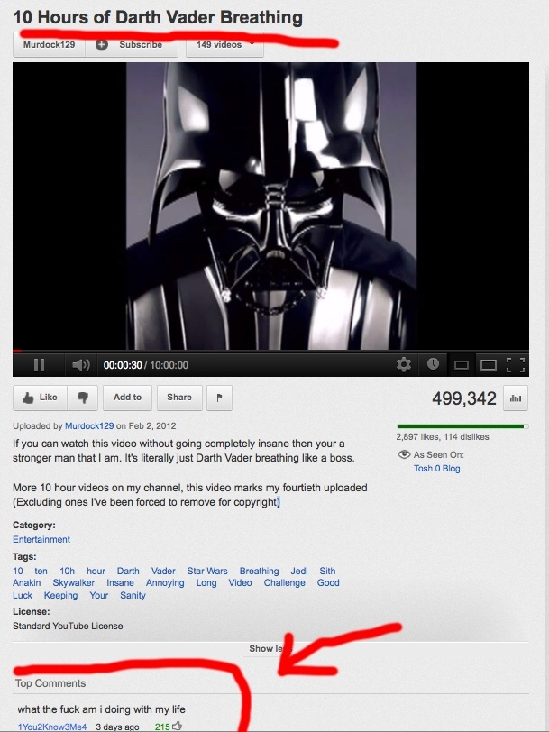 listening to darth vader breathing... - meme