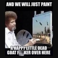 Bob Ross painting Isis