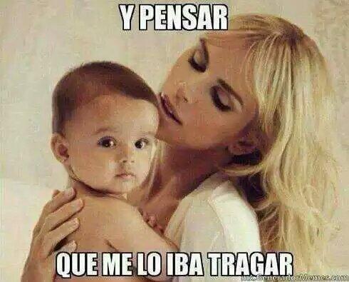 besos al bebé antes de nacer - meme