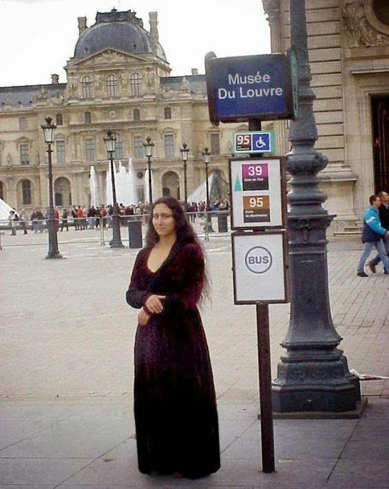 -Inédit- La Joconde ce serait échappé du Musée du Louvre à Paris. - meme