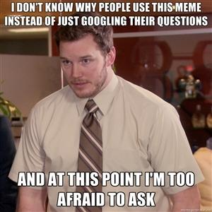 I'm aware of the irony. - meme