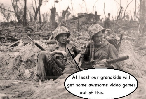 Thank you to all Of my grandparents for serving - meme