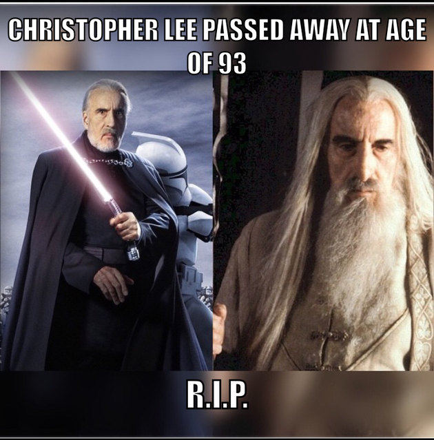 Another legend passes on. - meme