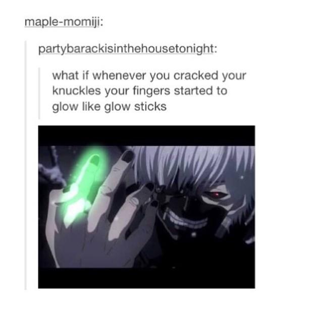 Amine is Tokyo Ghoul - meme