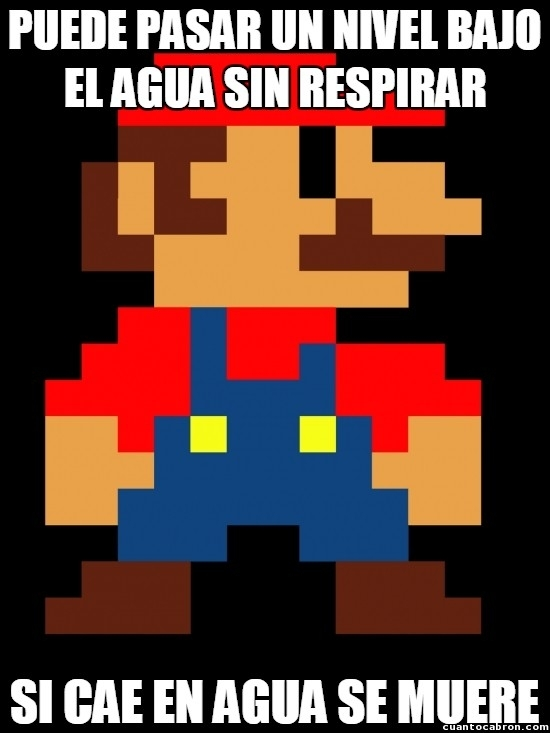 Logica de Mario Bros. - meme