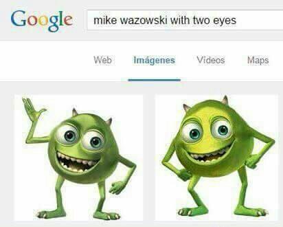 Mike wazowski con 2 ojos - meme