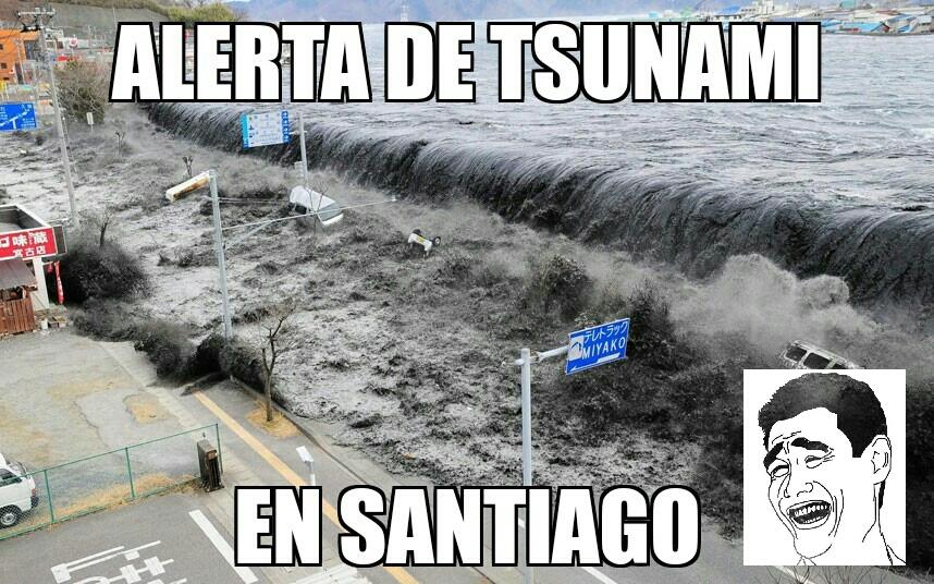 Alerta de tsunami - meme