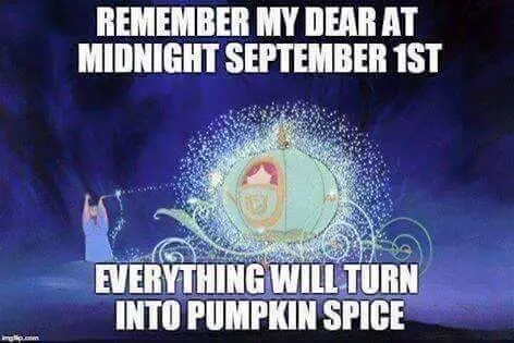 Pumpkin spice, pumpkin spice everywhere!!! - meme