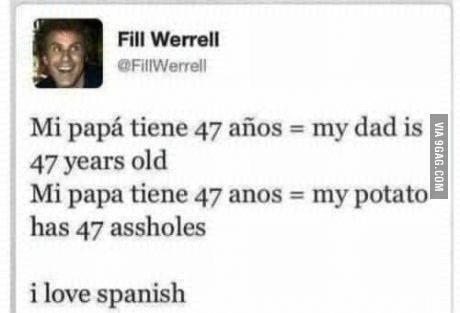 amo el español - meme