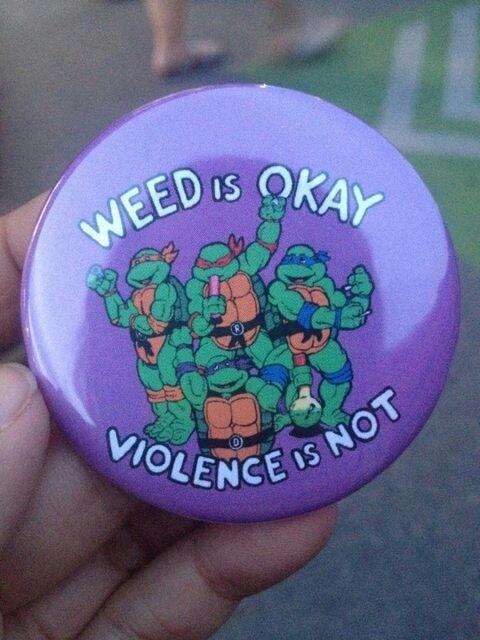 Turtle ninjas on drugs - meme