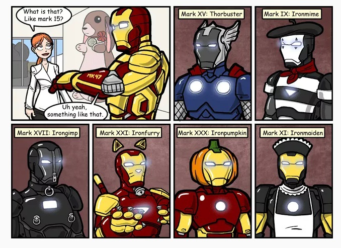 Ironman has a suit for all possible problems - meme