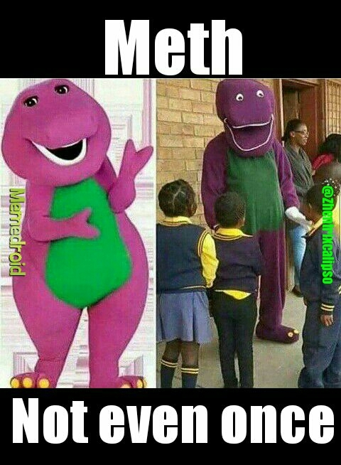 Why u do dis Barney - meme