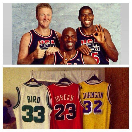 3 grandes leyendas de la nba <3 - meme