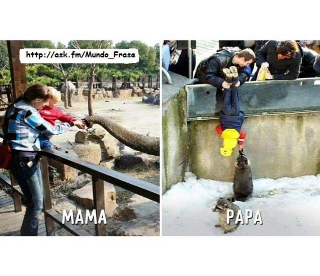 Mamá vs papá - meme