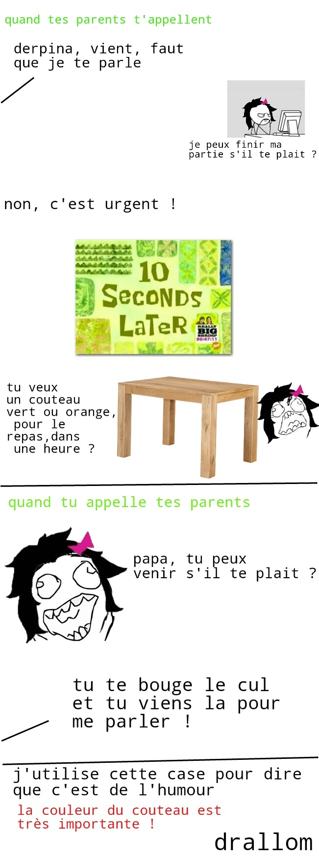 "error 404 : title not found    ou alors je met un truc du genre ""les parents"" - meme"