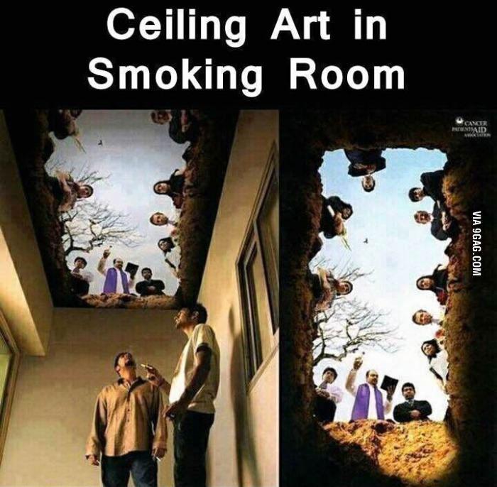 Fumoir au top pour arrêter - meme