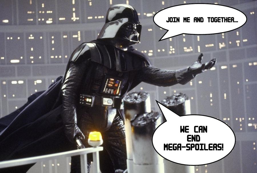 Stop the spoilers - meme