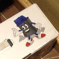 Sonic + caixa de tinta = isso