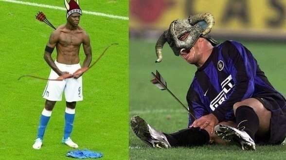 Balotelli is the master of archery - meme