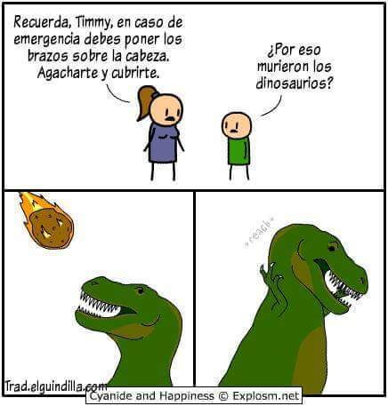 Pobres dinosaurios - meme