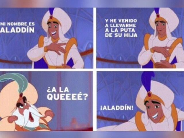 ser un ninja nivel: aladdin - meme