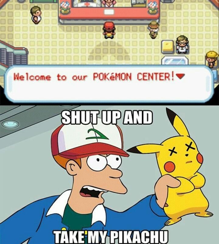 El título es un maestro pokemon - meme